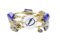 Women's Tampa Bay Lightning Bourbon & Boweties 3-piece Gold Bracelet