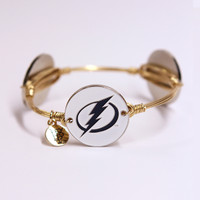 Women's Tampa Bay Lightning Bourbon & Boweties Gold Bangle Bracelet