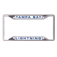 Tampa Bay Lightning WinCraft Metal License Plate Frame