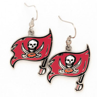 Tampa Bay Buccaneers Logo Dangle Wire Earrings