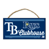 Tampa Bay Rays Decorative WoodSign W/Rope