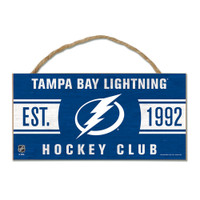 Tampa Bay Lightning Decorative WoodSign W/Rope