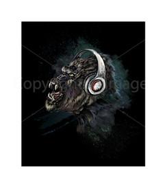 VDD Exclusive Gorilla Warfar - Green Wht Headphones