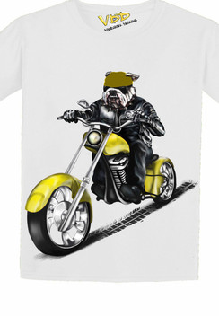 VDD Exclusive Bulldog Yellow Motor Cycle