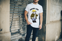 Yellow Plaid Shirt & Hat Diesel Arched Logo T-Shirt