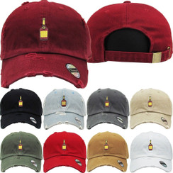 Hennessy  Dad Hat Distressed Baseball Cap  Free 1 Location Text