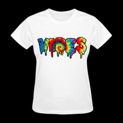 Vibes Tie-Dye T-shirt Ladies T-shirt Girls T-shirt Mens T-shirt