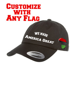 Flag Trump We Made America Great (any Flag) Dad Hat Distressed Baseball Cap