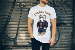 Diesel Life Logo Sweater & Clarks Bulldog Mens T-Shirt