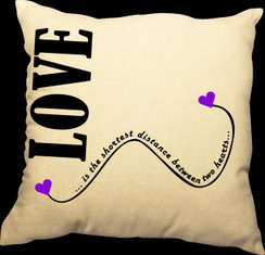 Love 20 x 20 Zippered Cotton Pillow or 16 x 16 Version- Love Fairy Design