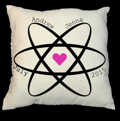 Heart 20 x 20 Zippered Cotton Pillow  or 16 x 16 Version- Sphere of Love Design