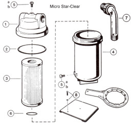 HAYWARD MICRO-STAR CLEAR CARTRIDGE FILTER PARTS