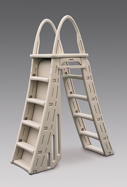 Confer Roll Guard A-Frame Pool Ladder for Above Ground Pool (7200)