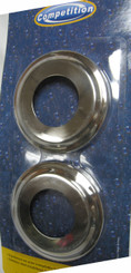 Set of 2 Escutcheons for In-Ground Pool Ladder or Rails, Set of 2, Stainless Steel (9040)