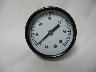 "Filter Pressure Gauge, 1/4"" Back Mount 0 -60 (PG602-4B)"