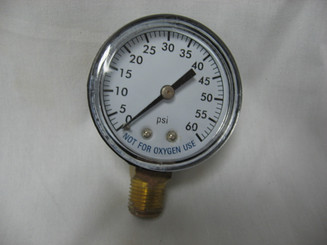 "Filter Pressure Gauge, 1/4"" Lower Mount 0 -60 (PG-602-4L)"