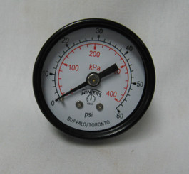 "Filter Pressure Gauge, 1/8"" Back Mount 0 -60 (PG-602-8B)"