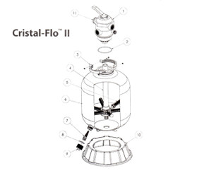 Pentair Crystal Flo II Sand Filter Parts