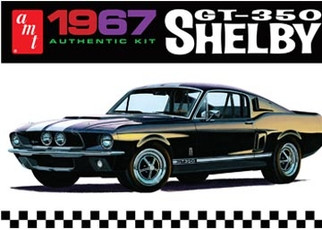 AMT834 AMT 1967 Shelby GT-350 1/25 Scale Plastic Model Kit