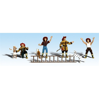 A2151 Woodland Scenics N Scale Scenic Accents(R) Figures Firemen to the Rescue