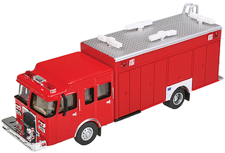 949-13802 HO Walthers SceneMaster(TM) Hazardous Materials Fire Truck-Assembled