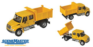 949-11632 HO Walthers SceneMaster International 4300 Crew Cab Dump Truck