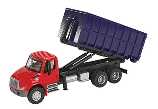949-11630 HO Walthers SceneMaster(TM) International 4300 Dual-Axle Dumpster Carrier Truck