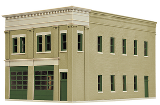 933-4022 HO Walthers Cornerstone(R) 2-Bay Fire Station Kit