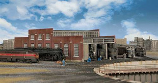 933-3261 Walthers Cornerstone N Scale Cornerstone Series(R) Modern Roundhouse 3 Add-On Stalls
