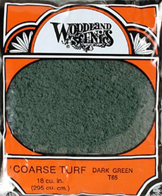T65 Woodland Scenics Coarse Turf Dark Green 12 oz