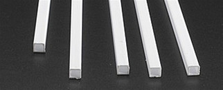 "90623 Plastruct Square Tube Styrene 1/4"" x 15"""