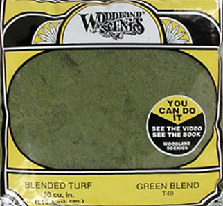 T49 Woodland Scenics Blended Turf Green 30 oz