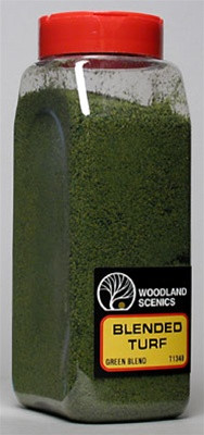 T1349 Woodland Scenics Blended Turf Green Blend 32 oz
