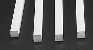 "90625 Plastruct Square Tube Styrene 3/8"" x 15"""