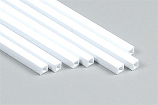 "90621 Plastruct Square Tube Styrene 1/8"" x  15"""