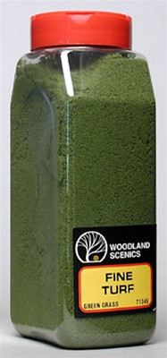 T1345 Woodland Scenics Fine Turf Green Grass 32 oz