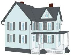 779 HO Model Power Grandma's New House Built-Up