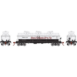 74474 HO Athearn Triple Dome Tank Car-National Distributing Co. RSPX835