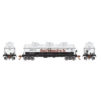 74473 HO Athearn Triple Dome Tank Car-National Distributing Co. RSPX832
