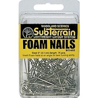 """ST1432 Woodland Scenics Foam Nails (2"""" 75 pcs)"""
