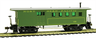 717004 HO Mantua Classics Wooden Passenger Car 1860 Combine-Northern Pacific