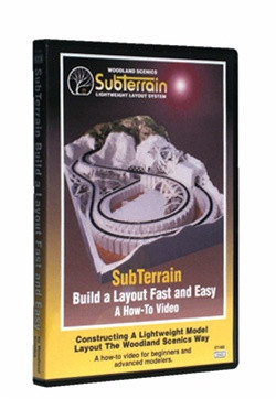 ST1400 Woodland Scenics DVD SubTerrain: Build A Layout Fast and Easy