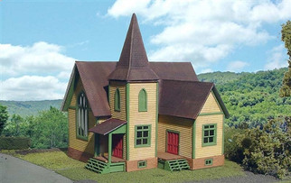 642-1 Branchline Laser-Art Structure Church Kit