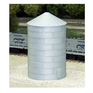 628-0704 N Scale Rix Products 40' Tall Corrugated Grain Bin Kit