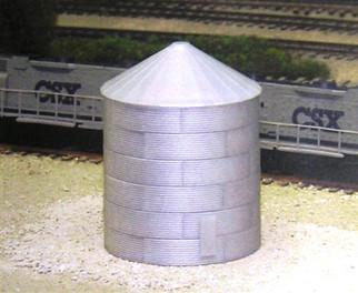 628-0703 N Scale Rix Products 30' Corrugated Grain Bin Kit