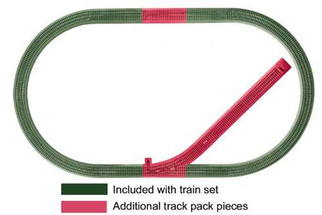 6-12044 Lionel O Fastrack Siding Track Add-on Track Pack