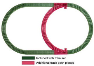6-12028 Lionel O Fastrack Inner Passing Loop Add-on Track Pack