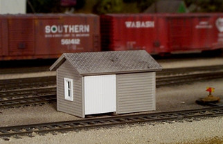 541-0006 HO Rix Products Pikestuff-Tool and Handcar Shed Kit