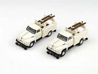 50288 N Scale Classic Metal Works (Mini Metals) '54 Ford(R) F-350(R) Utility Truck-White 2-Pack