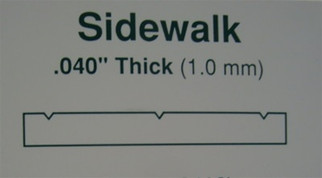 """4516 Evergreen Scale Models Sidewalk 1/4"""" Spacing"""